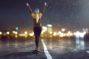 correr con lluvia